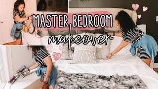 CLEAN & DECORATE WITH ME 2018   GIVING OUR MASTER BEDROOM A MAKEOVER!   Page Danielle