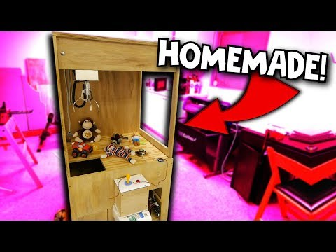 BUILDING A HOMEMADE CLAW MACHINE!!! Part 1 of 2