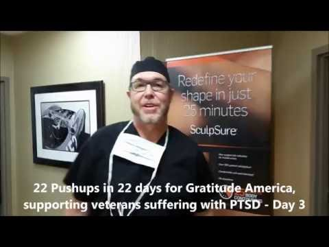 Dr. Anderson does 22 pushups in 22 days challenge....Day 3