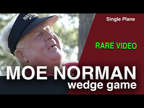Single Plane Golf Swing - Rare video of short game lessons from legend Moe Norman