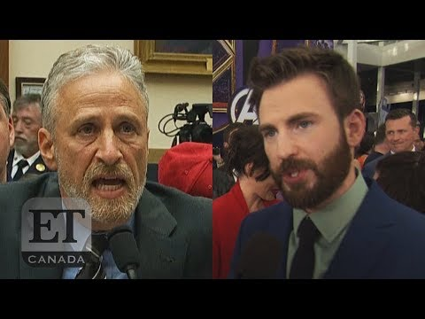 Chris Evans Reacts To Jon Stewart's 9/11 Plea