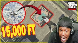 Diving Into A POOL From A HELICOPTER! (GTA 5 Casino Heist)