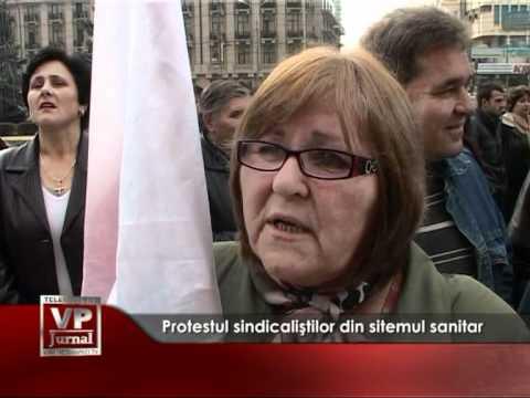 Protestul sindicaliştilor din sitemul sanitar