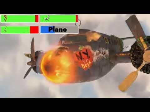 Madagascar: Escape 2 Africa (2008) Plane Crash with healthbars