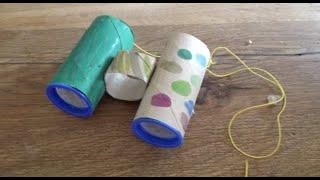 Outdoor basteln für Kinder: Ein Fernglas