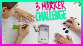 3 MARKER CHALLENGE !!! Boyama Oyunu