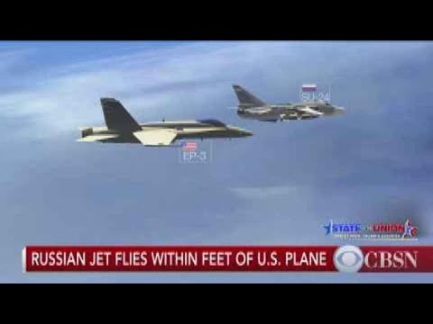 Russian jet flies within feet of U.S. military plane