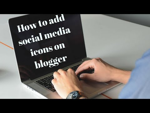 How to Share Social Media icons on Blogger