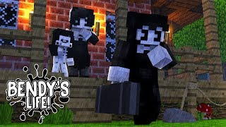 Minecraft Series BENDY'S LIFE-BENDY BROKE UP WITH ALICE ANGEL BUT WHY???- Baby Leah Adventures!