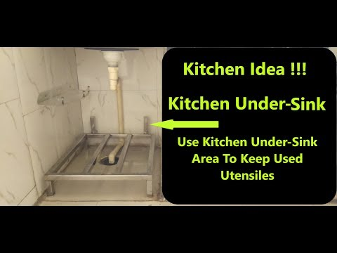 Kitchen Hacks India - Use Kitchen Under Sink Area For Used Utensils,Kitchen Budget Improvement Ideas