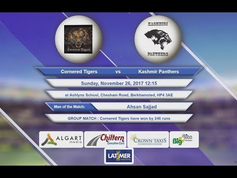 Video Cornered Tigers VS Kashmir Panthers - 26-Nov-2017