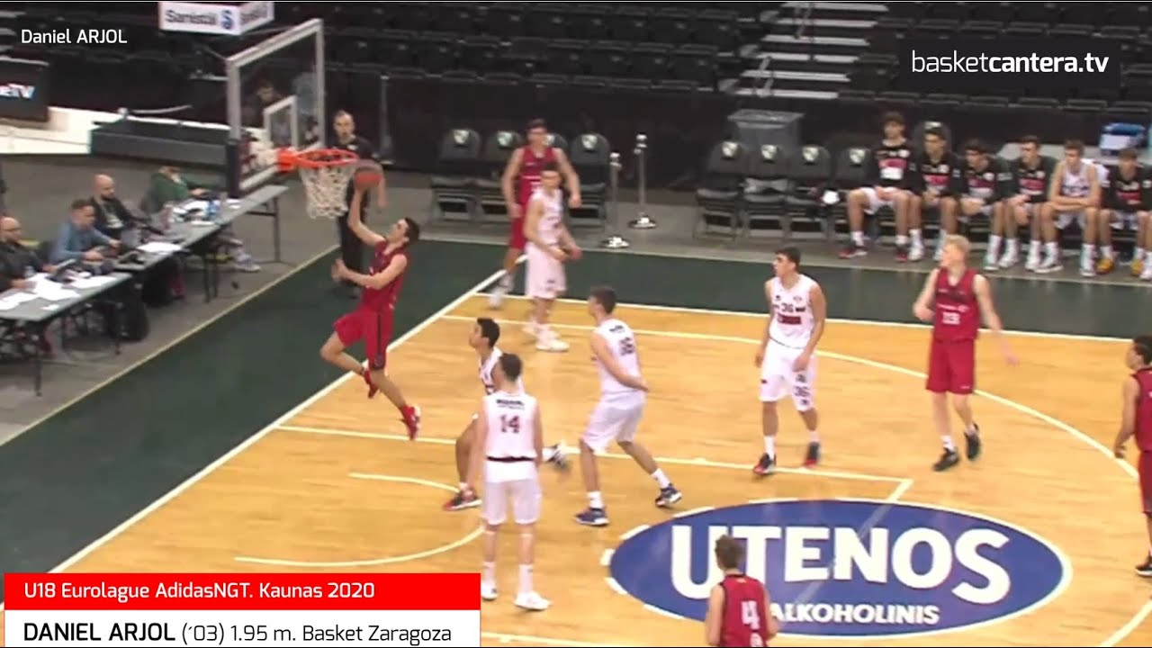 DANIEL ARJOL (´03) 1.95 m. Basket Zaragoza. Euroleague AdidasNGT. Kaunas 2020 (BasketCantera.TV)