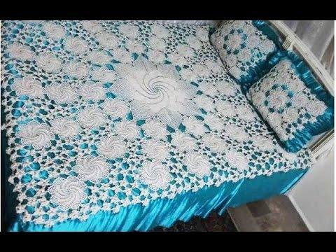 مفارش سرير بالكروشيه ١