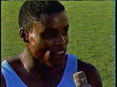 Carl Lewis interview 1984 USA Olympic Trials Track & Field