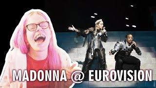 MADONNA   LIKE A PRAYER & FUTURE FT. QUAVO (LIVE AT EUROVISION 2019) REACTION | Sisley Reacts