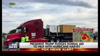 Fox News ignores role of climate change in Hurricane Harvey