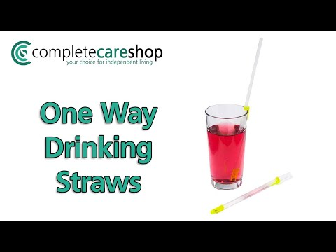 One Way Drinking Straws - Requires Less Effort When Drinking