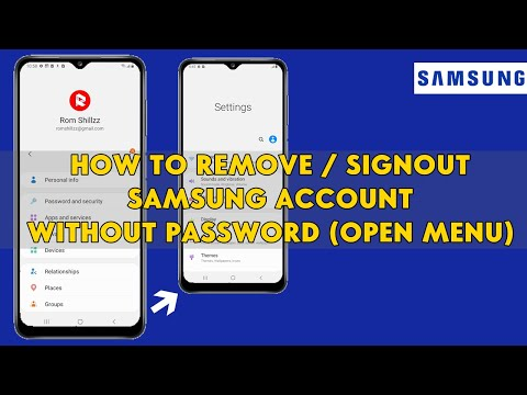 How To Remove / Sign out Samsung Account Without Password (Open Menu) -  [romshillzz]