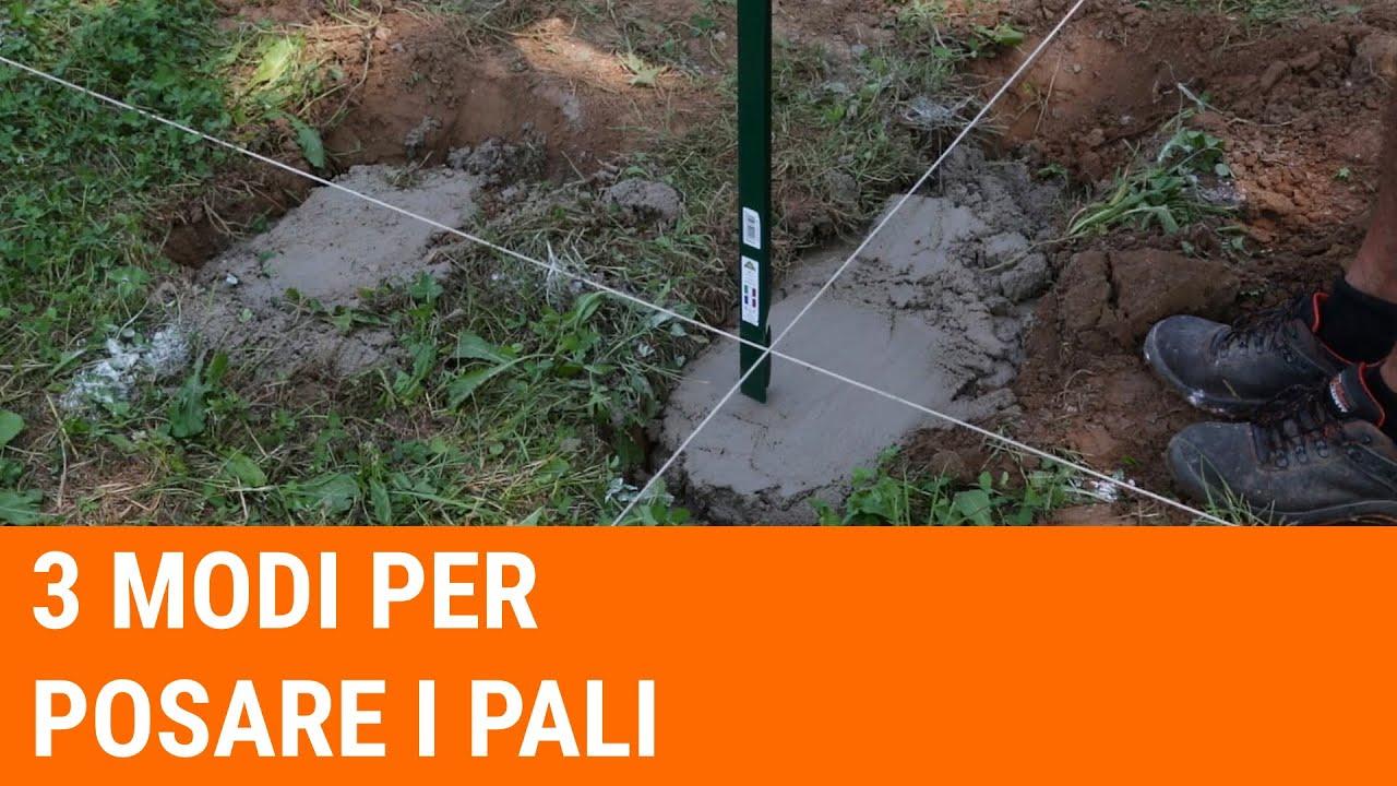 Come tracciare il terreno e posare i pali