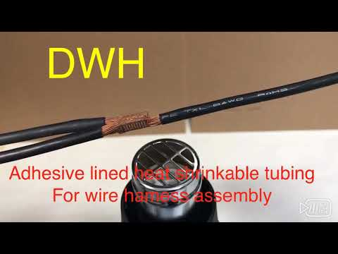 DWH-Adhesive lined heat shrinkable tubung for wire hamess assembly