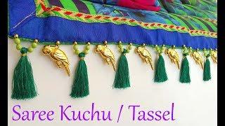 How to make saree kuchu using parrots || tassels tutorial for saree at home