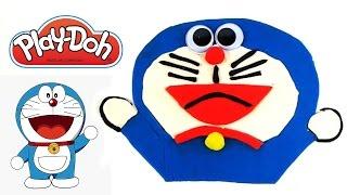 How to Make Play Doh Doraemon Surprise Eggs Plastilina Playdough Kinder Huevos Sorpresa