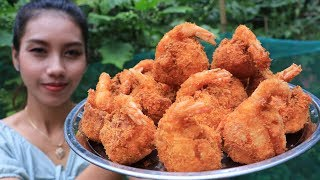 Yummy cooking crispy shrimp recipe - Natural life tv cooking
