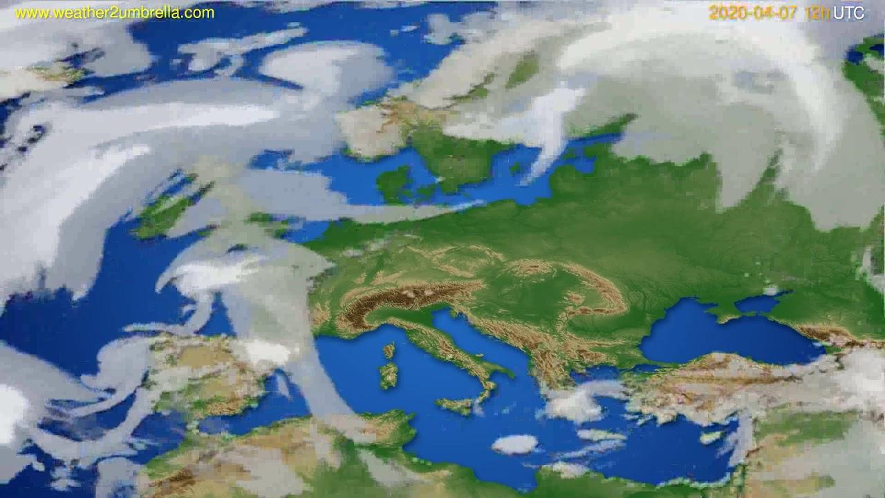 Cloud forecast Europe // modelrun: 00h UTC 2020-04-07