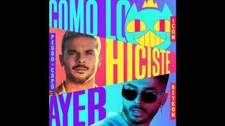 ICON Feat. Pedro Capó Y Reykon   Como Lo Hiciste Ayer  (Audio)