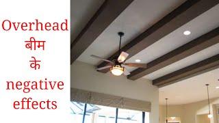 बीम का नेगेटिव प्रभाव | Effects Of Overhead Beam On The Residents Of A House - Vastu Tips