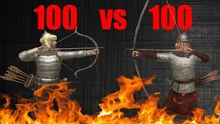 Mount and blade Warband - Sarranid Master Archer VS Nord Veteran Archer