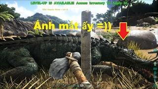 ARK: Survival Evolved #9 - Bị Khủng long sừng bò Carnotaurus Rượt =))