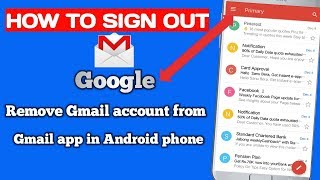 how to remove gmail account on android app