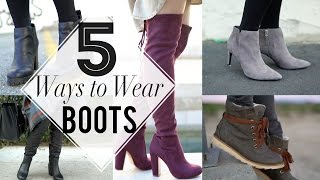 5 Ways to Wear Fall Boots | ANN LE