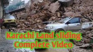 land sliding in Karachi Pakistan