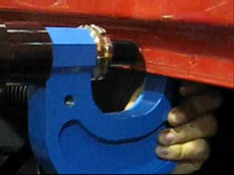 Self pierce riveting tool repairing a Freightliner cab