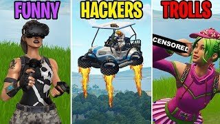 FLYING ATKS? FUNNY vs HACKERS vs TROLLS! Fortnite Battle Royale Funny Moments