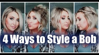 4 WAYS TO STYLE A BOB | EASY SHORT HAIR TUTORIALS | Summer Whitfield