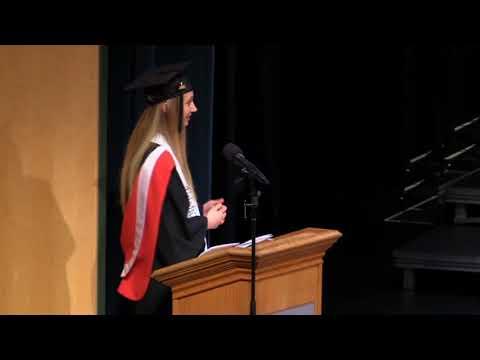 Elissa Doerksen valedictorian speech