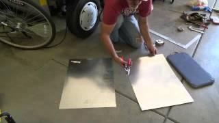 How to cut sheet metal galvanized flashing