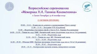 Всероссийские соревнования «Мемориал Н.А. Панина-Коломенкина», 15.10.2019, Санкт-Петербург