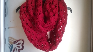 Шарф-восьмерка крючком / How  crochet a scarf