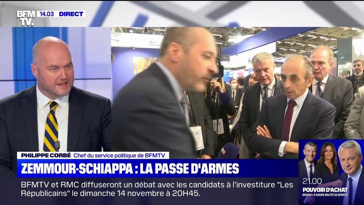 """""""On ne va pas faire la campagne comme ça"""": mise au point de P. Corbé sur l'échange Zemmour/Schiappa"""