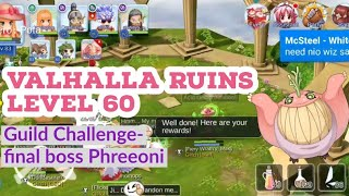 valhalla ruins ragnarok mobile level 60 - मुफ्त
