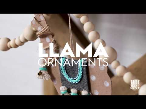 Llama ornaments | Made By Me Crafts | Better Homes & Gardens