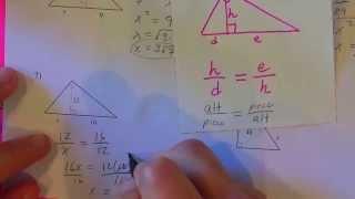 Similar Right Triangles Kutasoftware Part 1 Of 2