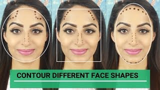How To Contour Different Face Shapes (HINDI)| Deepti Ghai Sharma