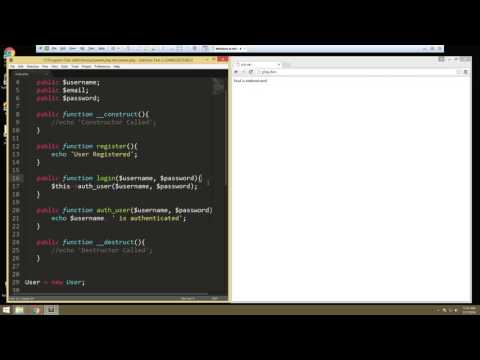 Learn about Object Oriented Fundamentals in PHP - Part 4