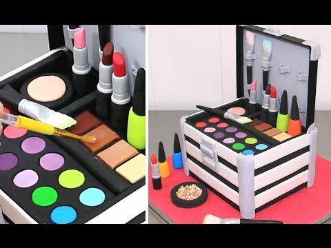 MakeUp Cosmetics Box Cake  *Torta Caja De Maquillaje by Cakes StepbyStep