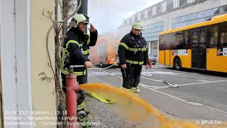 28.04.2021 / Container i bygning-Brand / Lyngby
